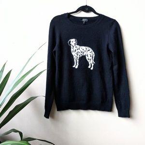 Charter Club Cashmere Dalmatian Crew Neck Sweater